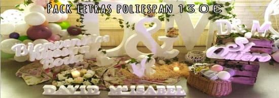 letras gigantes de poliespan para bodas