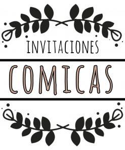 invitaciones comicas