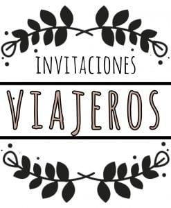 invitaciónes viajeros