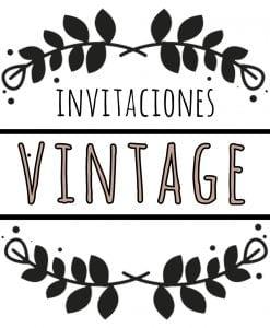 invitaciones vintage