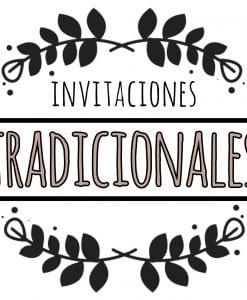 invitación tradicional