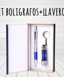 Set bolígrafos+ llaveros