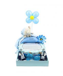 cuna de pañales para regalo de recién nacidos