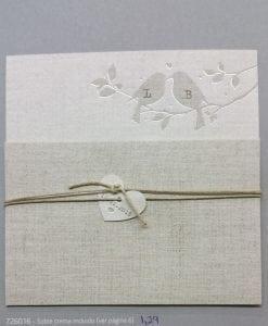 Invitación Romantic 726016BE - tiendadeilusiones