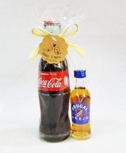 Pack Coca cola 200ml mas Brugal añejo
