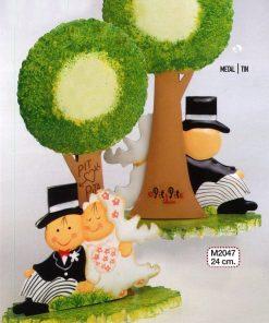 Figura para pastel metal novios Pit &Pita árbol 23cm