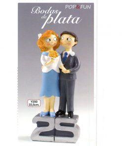 Figura para pastel Pop&Fun Bodas de Plata 21,5cm
