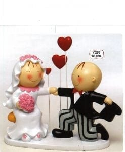 Figura para pastel Pit & Pita 3 corazones 18cm.