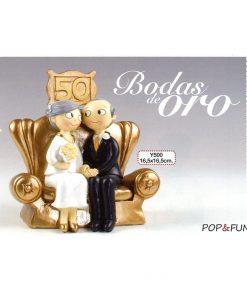 Figura para pastel Pop&Fun Bodas de Oro 16x16,5cm