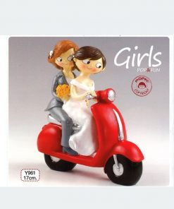 Figura para pastel Girls Pop & Fun en moto 17cm