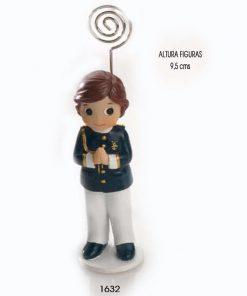 NIÑO COMUNIÓN ALMIRANTE CASACA AZUL SUJETA-TARJETAS 9 cms.