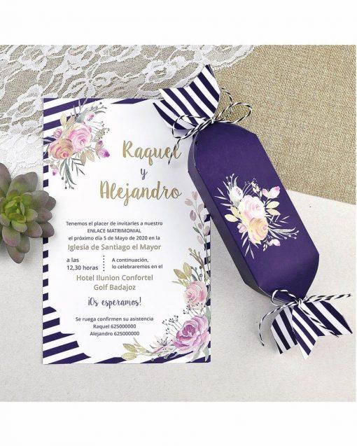 invitaciones de boda forma caramelo