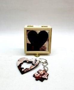 Joyero cuadro madera+llaveros con foto