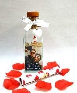 botella pergamino personalizada