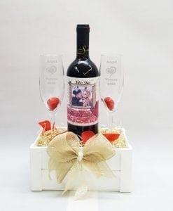 Juego de copas grabas +vino personalizado