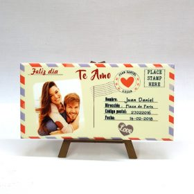 Postal en azulejo personalizada