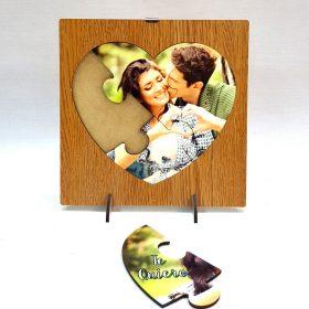 Puzzle corazón 3 piezas con foto