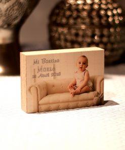 Taco de madera para regalo de Bautizo