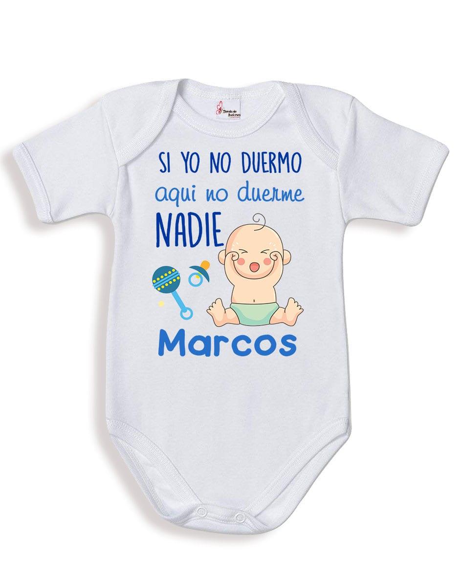 4d4f2885dc7c7 Body bebé niño personalizado si yo no duermo - tiendadeilusiones