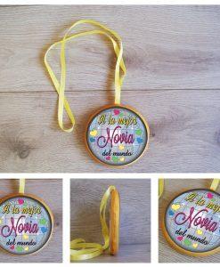 Medalla Novia 13 cm 0508-artmodel