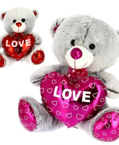 PELUCHE OSO LOVE METALIZADO 20CM 2465-BIMAR