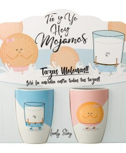 TAZA DOBLE GALLETA Y VASO - LD0628 lovery