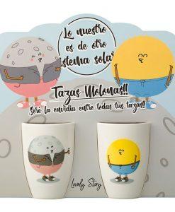 TAZA DOBLE SOL Y LUNA - LD0705 lovery