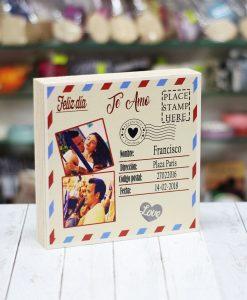 Taco madera postal