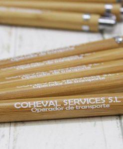 Bolígrafo bambú personalizado