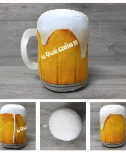 Cojín cerveza terciopelo 17cm 0889-ARMODEL