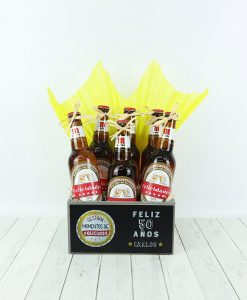 pack de 6 cervezas personalizadas