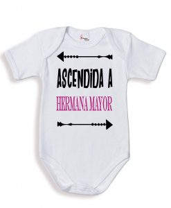 Body bebé personalizado ascendía a hermana mayor