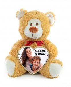 Peluche oso con corazon personalizado