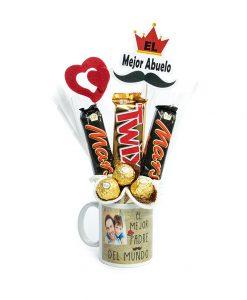 Taza con chocolates para el dia del padre