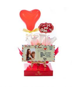 cesta para regalo san valentin personalizadas